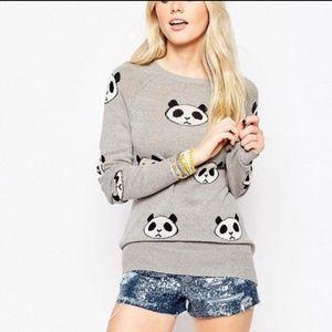 WildFox Gray Panda Sweater Size M
